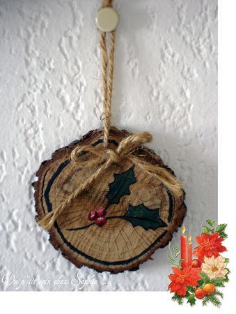 D corations de no l petits rondins de bois paperblog - Decoration de noel a fabriquer en bois ...