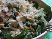 Salade pousses d'épinard endives