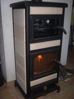 mon nouveau po le bois avec un four d couvrir. Black Bedroom Furniture Sets. Home Design Ideas