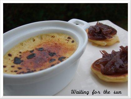 Entr e pour repas de f tes creme br l e au foie gras for Entree repas de fete