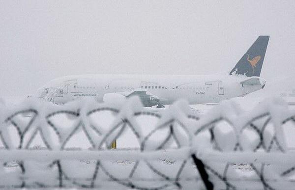 L'Europe sous la neige