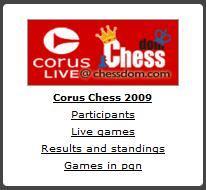Le Corus sur Chessdom