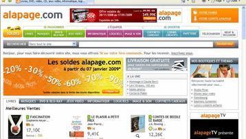 Capture écran du site Alapage.com