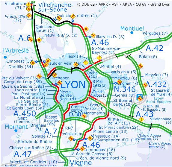 INFO TRAFIC Lyon : Verglas, accidents, morts, la DDE va s'en ...