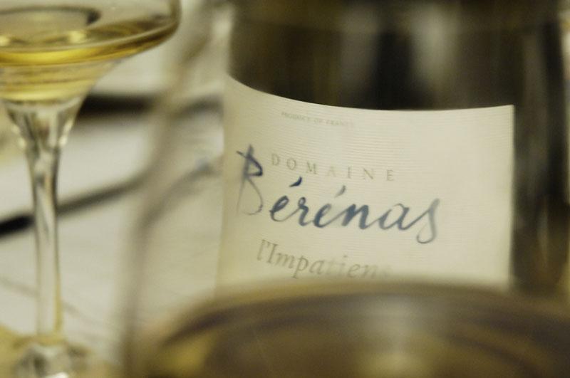 Vin blanc - bérénas