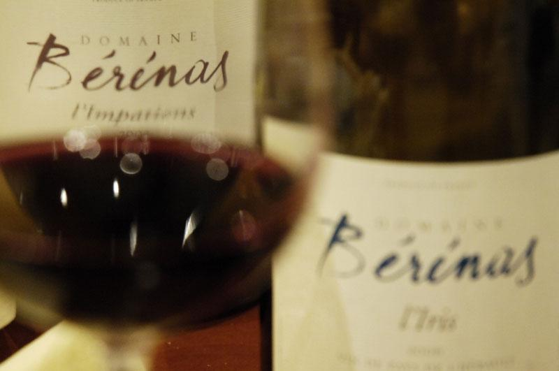 vin rouge - bérénas