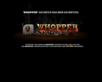 Whopper Sacrifice