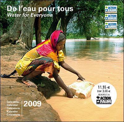 Calendrier 2009 Eau pour tous, Action contre la faim