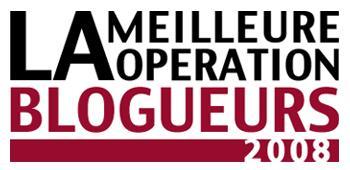 Votez pour la meilleure opération blogueur 2008