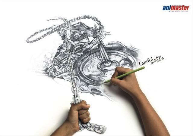 publicité illusion d'optique animaster