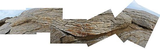 Millefeuilles de granit à l'île Grande
