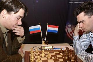 Morozevich - Van Wely (Corus A 2009 - Ronde 2)