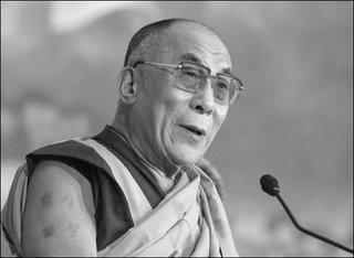 dalai lama, rome en images, italie