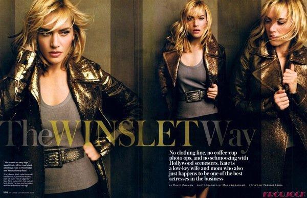 Kate Winslet pour ELLE Grande-Bretagne et InStyle