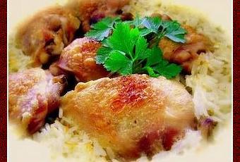 Poulet au riz la mode de terceira paperblog - Cuisiner un poulet entier ...