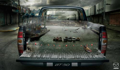 Coup de Photoshop sur Mazda