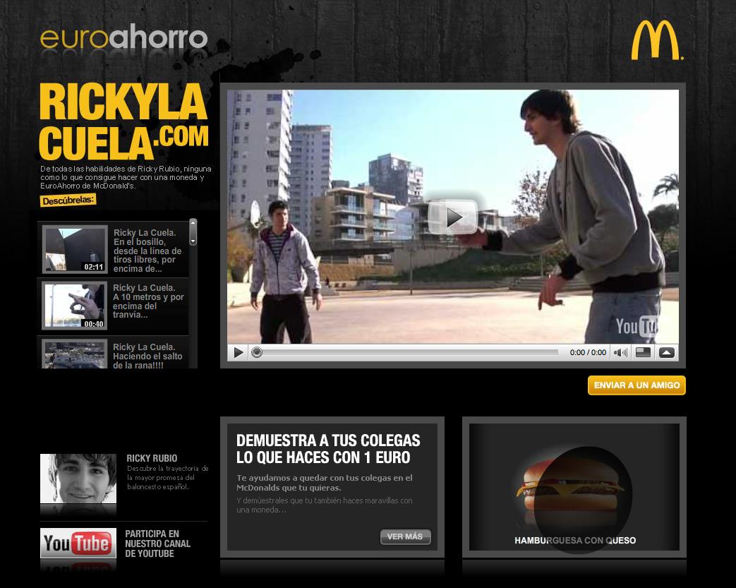 Ricky Rubio nouvelle star de McDonald's