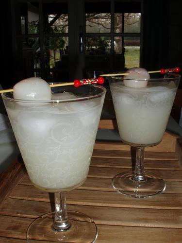 Cocktail aux lychees