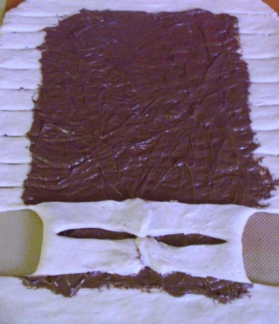 Maxi brioche tressée au Nutella