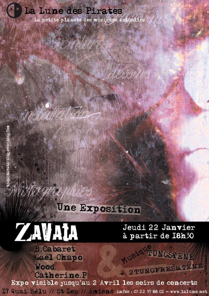 Exposition Zavata à la Lune des Pirates à partir du 22 Janvier