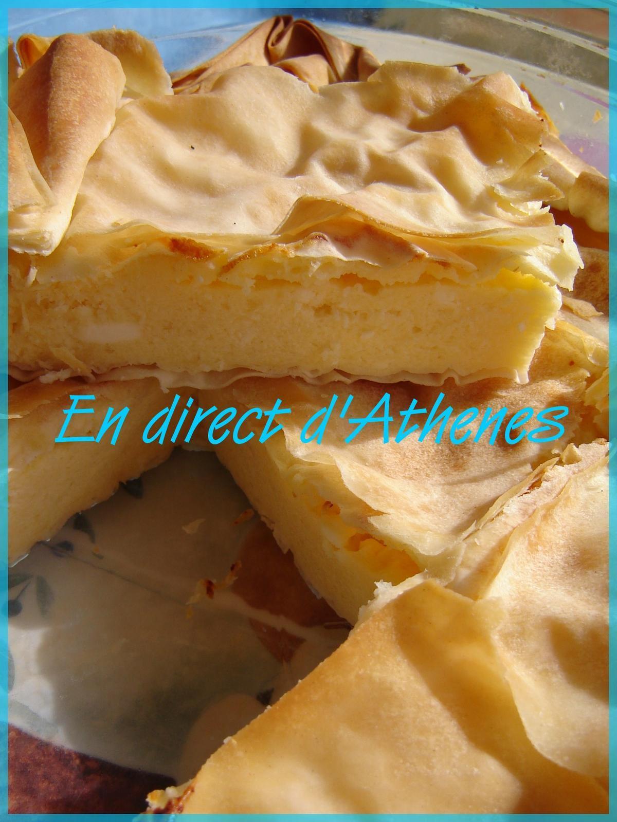 PITA : Tyropita ou pita au fromage