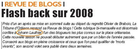 Tribune d'Orléans : Johann Lauthier, nouveau maître des blogs