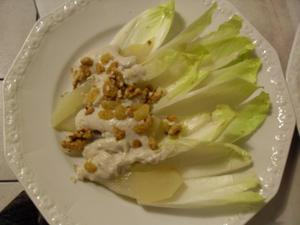 Salade d'endives bleu et poires