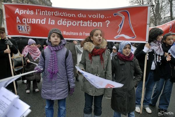 Manifestion du parti des musulmans de France