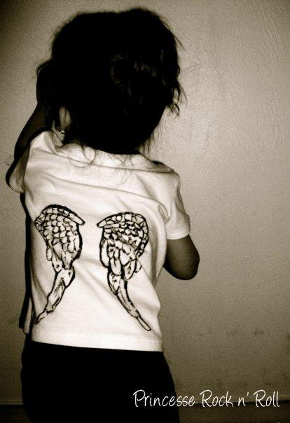 aile d ange en tatouage. Tee-shirt Ailes d'anges (Princesse Rock N' Roll)