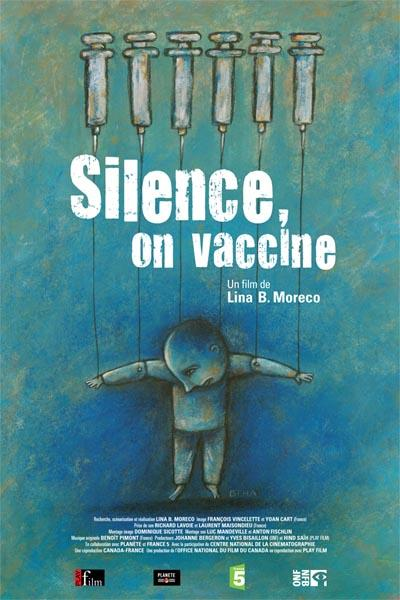 Affiche film Silence on vaccine