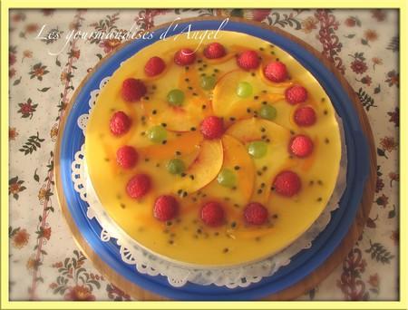 G teau mousse charme de fruits d couvrir - Decoration de gateau avec des fruits ...
