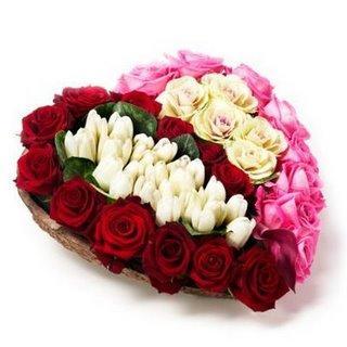 Des coeurs et des fleurs pour la saint valentin lire - Fleurs saint valentin ...
