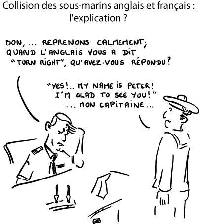 Collision des sous-marins anglais et français : l'explication ?