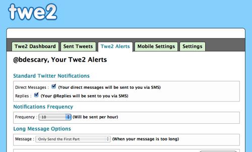 twe2-2 Twe2, le retour des SMS sur twitter!