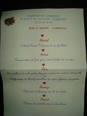 Menu St Valentin 2009