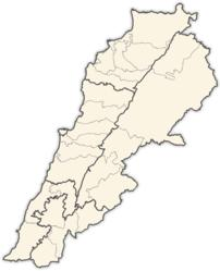 Maps illustrating the districts of Lebanon.