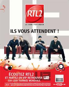 RTL2 envoie ses auditeurs sur la tournée mondiale de U2