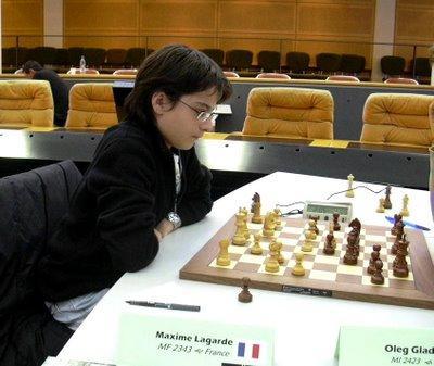 le jeune Maxime Lagarde dans le tournoi B