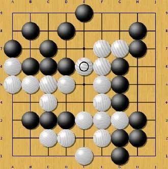 Image de la première victoire d'un ordinateur contre un joueur professionnel humain en jeu de Go 9x9, réalisée par MoGo en 2008.