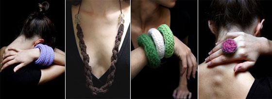 Miss Tinguette: une collection de bijoux en laine