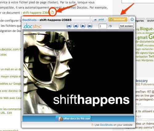 docshot-docstoc Prévisualisez des documents publiés sur votre blogue avec DocShots