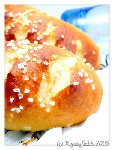 Les Moritz ou petits pains Bretzels (vegan)