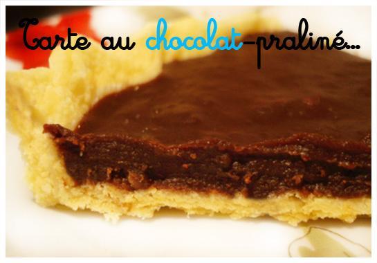 Tarte au chocolat-praliné