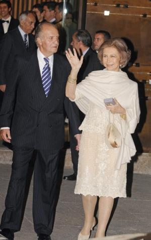Le Roi et la Reine Juan Carlos et Sofia, souverains d'Espagne