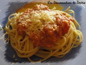 Spaghettis façon bolognaise, ou comment recycler les restes ...