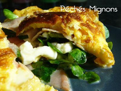 Rapide, Oeufs, Jambon sec, Mozzarella, Salade,