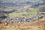 Le village d'Ainhoa dans le Pays Basque