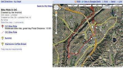 Vos traces GPS avec android et Google My Tracks