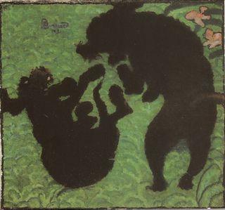 Bonnard - Les Deux Caniches, 1891