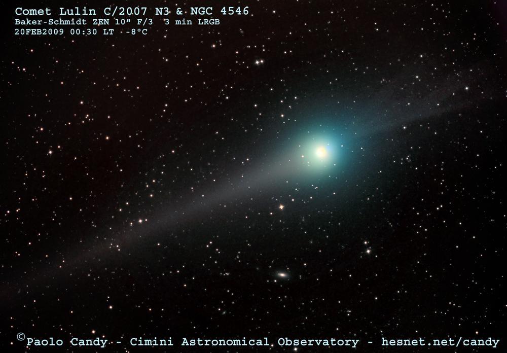La comète Lulin et ses deux chevelures visibles